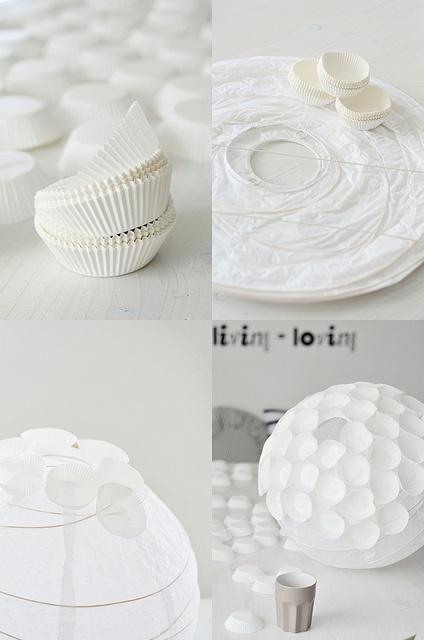 DIY Muffin Lampe