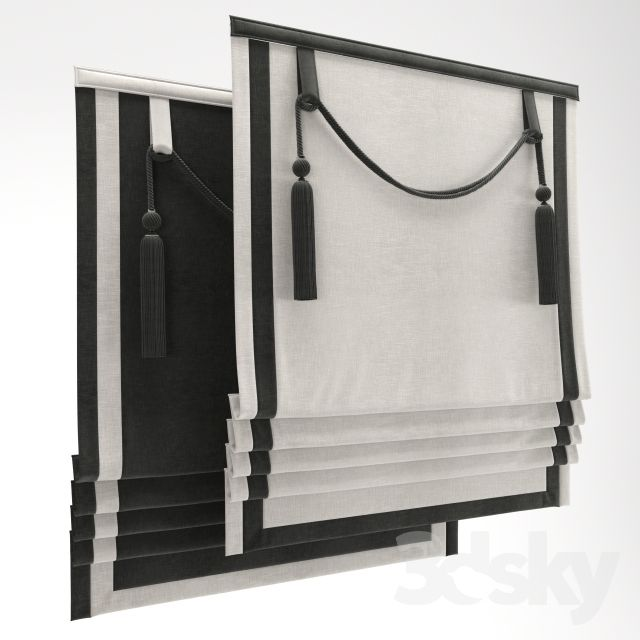3d models: Curtain - Roman Shade 24