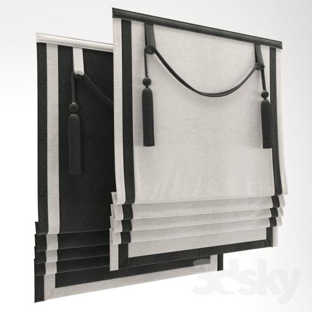 3d Models: Curtain   Roman Shade 24