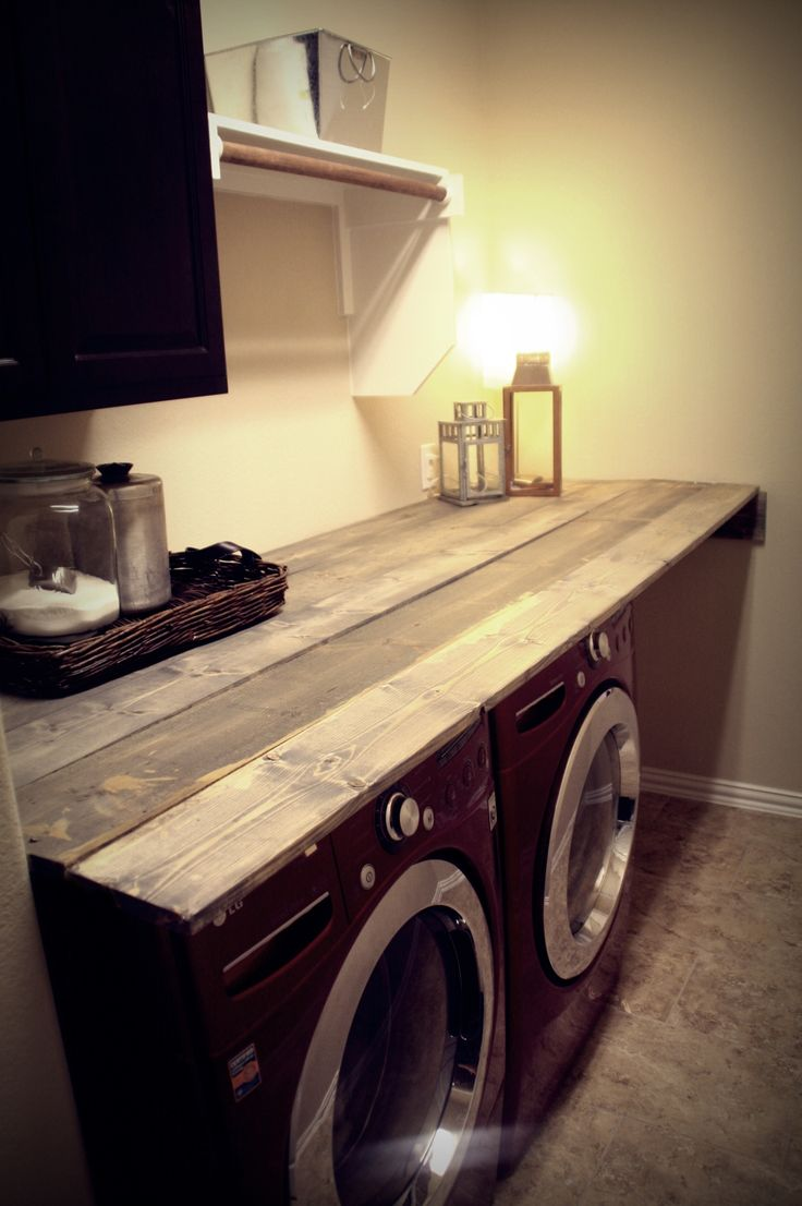 laundry room makeover i love the idea of a folding surface over appliances - Laundry Folding Table