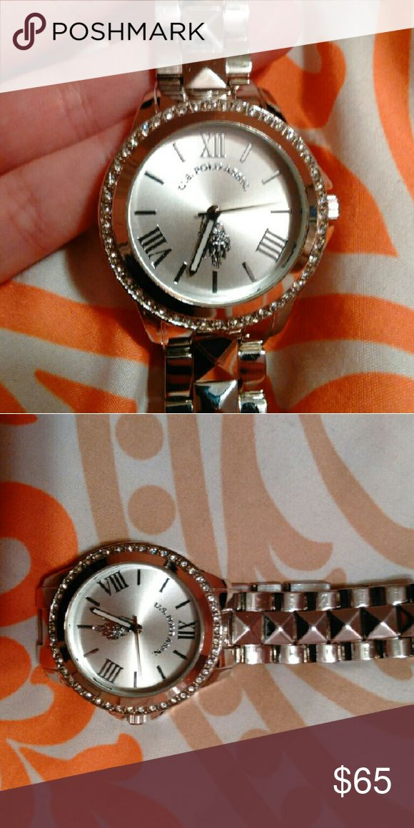 Silver Ralph Lauren Polo Watch with Diamonds Fashionable everyday watch U.S. Polo Assn. Accessories Watches