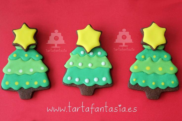 Galletas de chocolate con forma de Arbol de Navidad, las recetas las podéis encontrar pinchando en siguiente enlace http://tartafantasia.blogspot.com.es/2013...