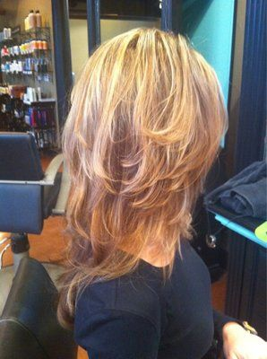 long layers and hair color to die for