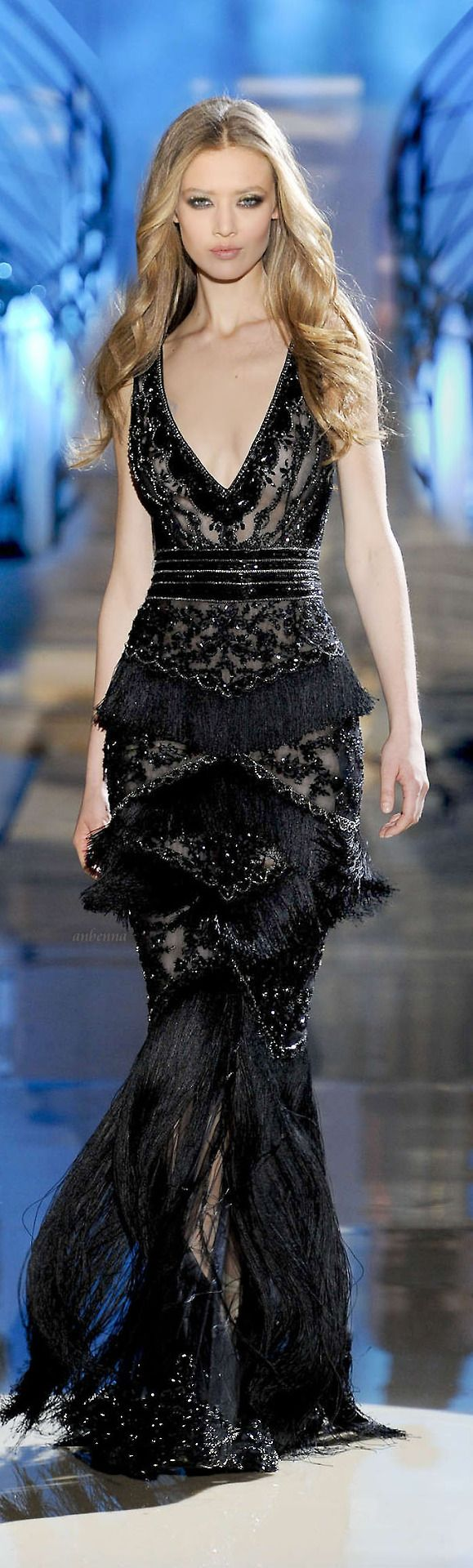Zuhair Murad --fringe in unusual formations and in unusual places.