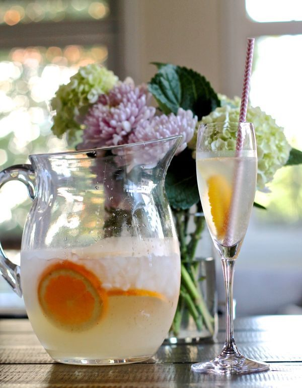 French 75 Punch, an easy cocktail for a crowd.