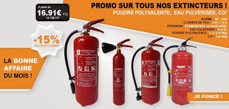 #extincteur #promotion #promo #poudre #polyvalente #eau #pulvérisée #co2 #incendie #feu #protection #extinction #affaire #stock #prix #réduction