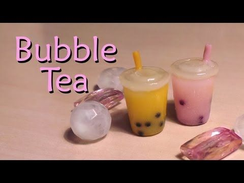 Easy Polymer Clay Tutorial; Bubble / Boba Tea Charm - YouTube