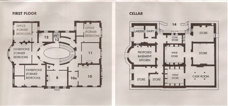 Bay House Plans elizabeth bay house, sydney. first floor and basement plans