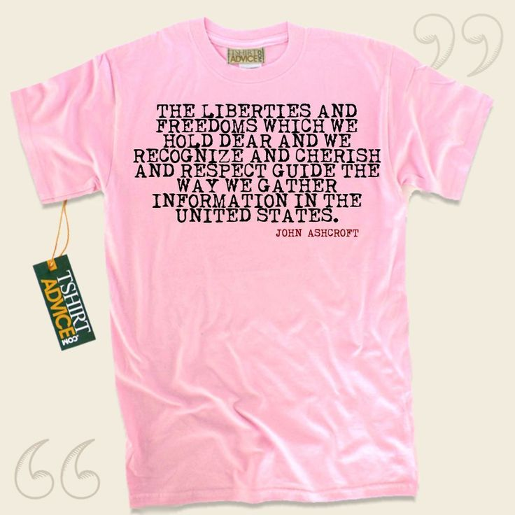 The liberties and freedoms which we hold dear and we recognize and cherish and respect guide the way we gather information in the United States.-John Ashcroft This  quote t-shirt  won't go out of style. We produce timeless  reference shirts ,  words of knowledge shirts ,  idea tops , plus ... - http://www.tshirtadvice.com/john-ashcroft-t-shirts-the-liberties-love-friendship-tshirts/