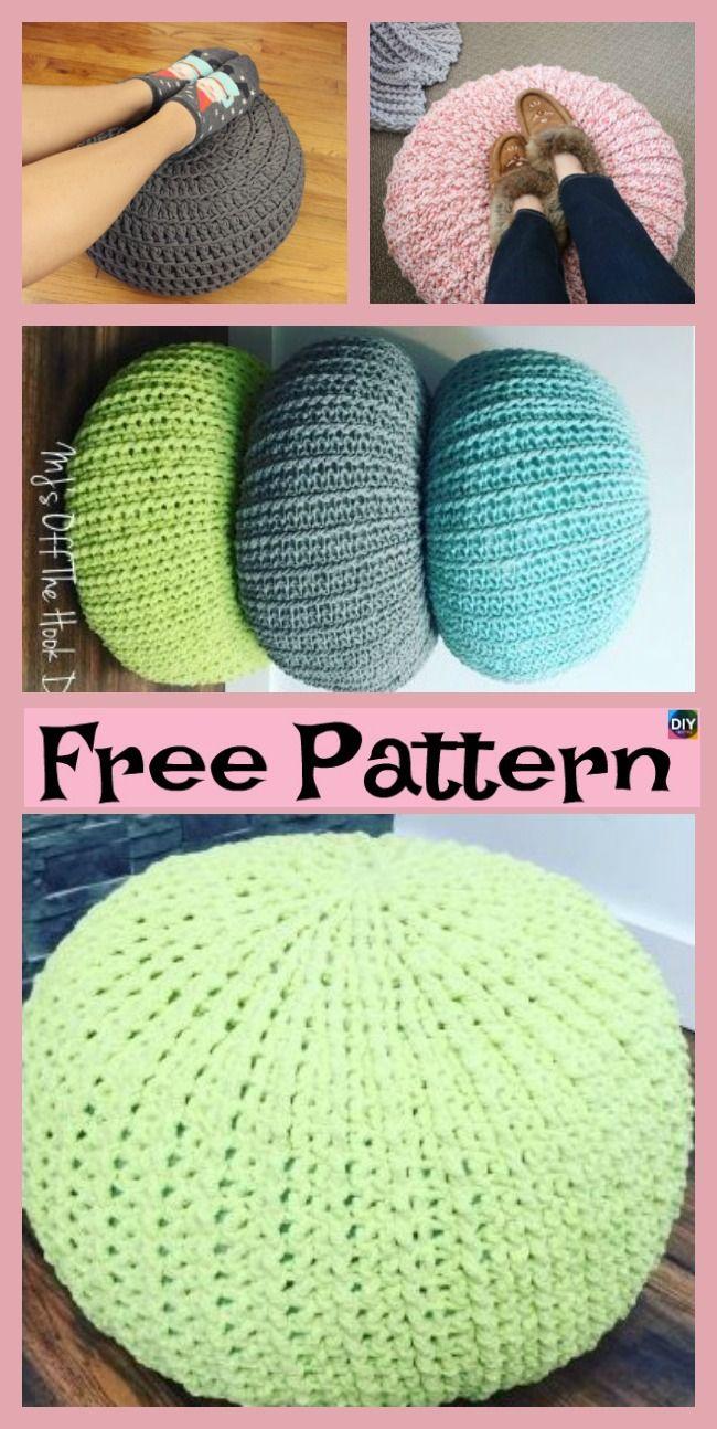 Cozy Crochet Floor Pouf Free Pattern Haken Pinterest Crochet