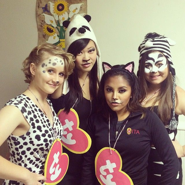 56 Creative Homemade Group Costume Ideas Beanie Babies All it takes is some animal ears or hats and a quick DIY to make the beanie baby tag!