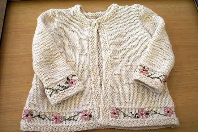 Ravelry: Project Gallery for #15 Baby Jacket pattern by Michele Rose Orne