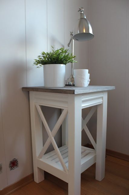 Lind Road: Recipe for console table and bedside tables.