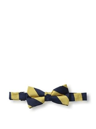 26% OFF Urban Sunday Kid's Yellow/Navy Stripe Bow Tie (Yellow/Navy)