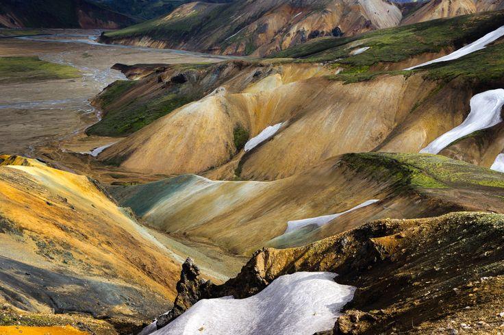 Photograph Rhyolyte hills in Landmannalaugar II, Iceland by Jorge Ortega