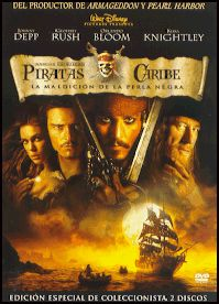 Piratas del Caribe: la maldición de la Perla Negra (2003) EEUU. Dir.: Gore Verbinski. Aventuras. Fantástico. Comedia. Acción --  DVD CINE 1614