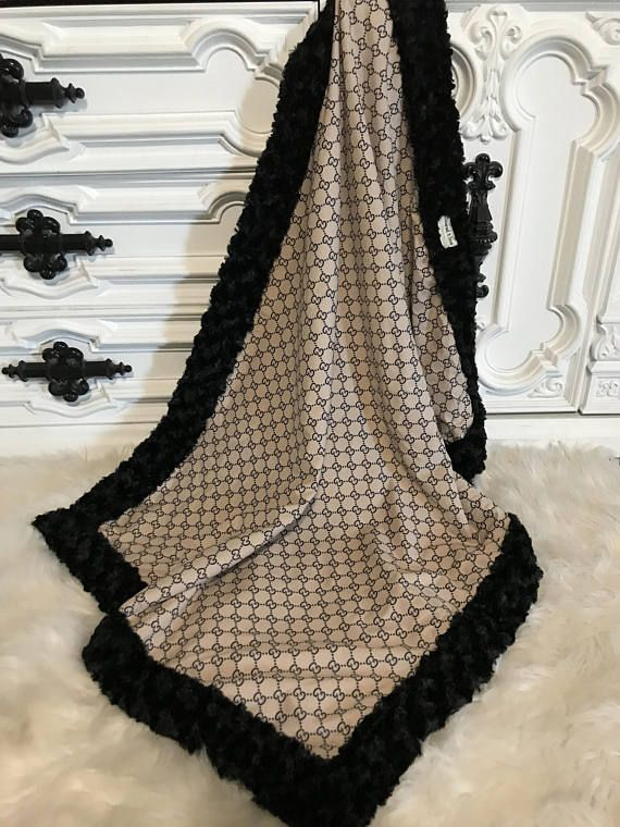 ab276251654 Gucci inspired Baby Blanket YOU pick minky color
