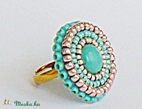 Türkiz  gyűrű, Ékszer, óra, Gyűrű, Meska
