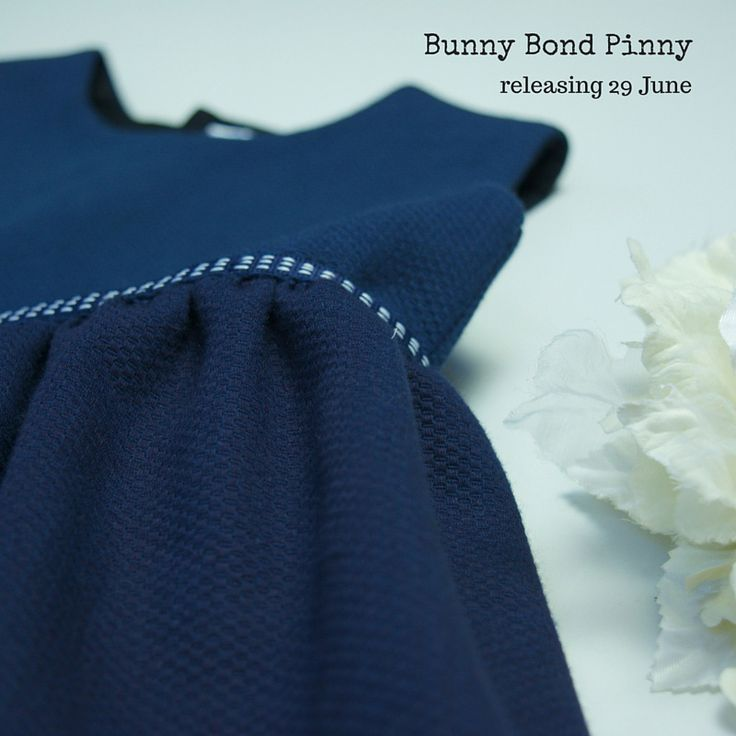 "Second in the ""sister's"" series, the Bunny Bond pinny is named after our mum.  In beautiful navy pique cotton, with blue and white ribbon trim, this very versatile pinafore is great for layering in the cooler months, or just as cool as you like during the hot weather."