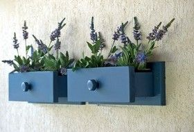 DIY: Dresser Drawers Turned Wall Planters