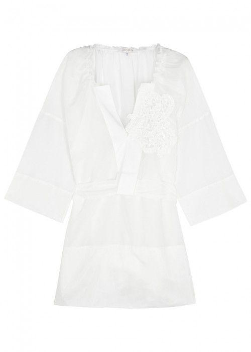 LILA.EUGENIE LILA. EUGÉNIE WHITE APPLIQUÉD VOILE DRESS. #lila.eugenie #cloth #