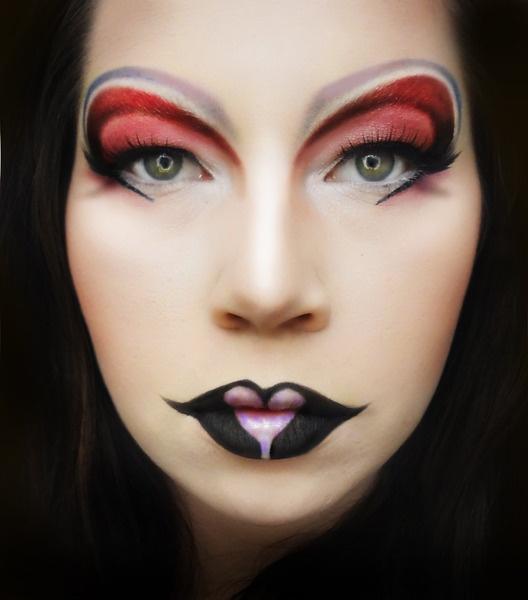 black rose,great costume makeup