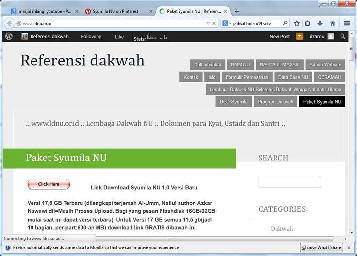 Web Center Syumila NU : www.ldnu.or.id silahkan dikunjungi juga bisa diblog www.refdak.wordpress.com