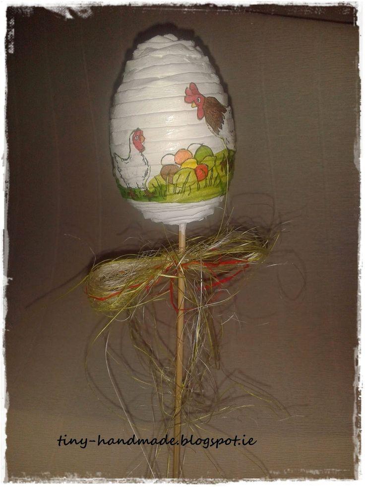 Jajko z wikliny papierowej na pikublogu - Pomorskie Craftuje -Wyzwanie