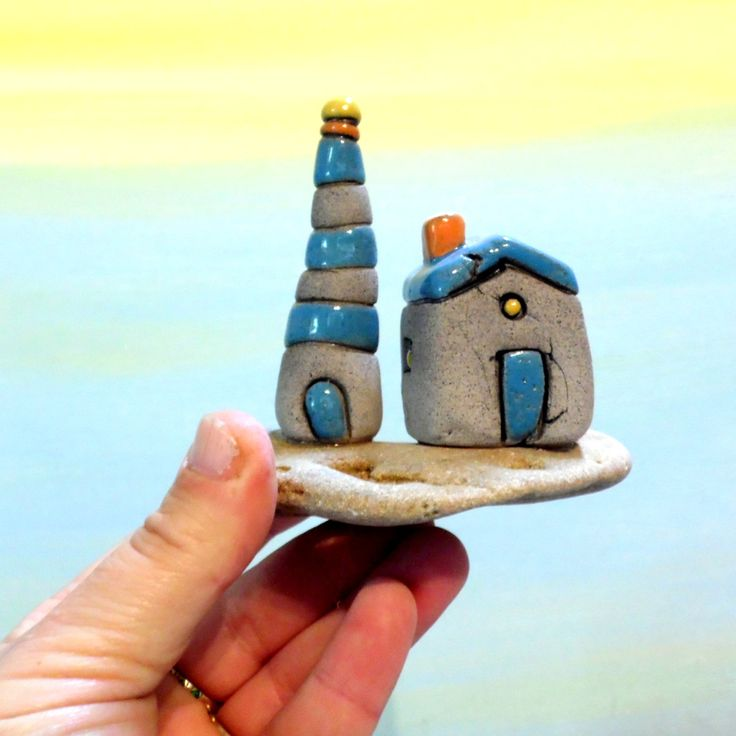 142 best lighthouses windmills images on pinterest ceramic ceramic lighthouse gray and blue lighthouse little beach cottage natural beach stone sculpture sciox Image collections