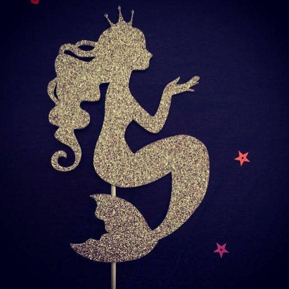 Mermaid Princess Cake Topper