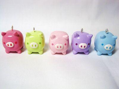 Rainbow baby piggy banks