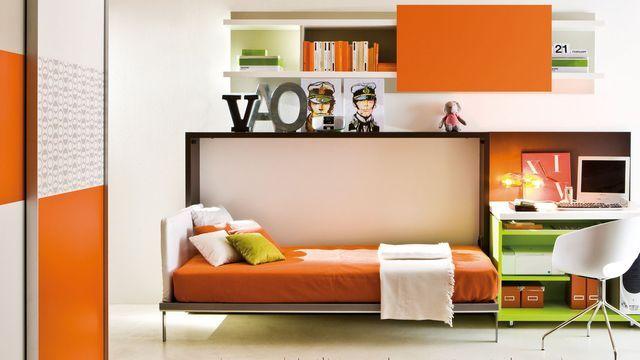 17 meilleures id es propos de plans de lit escamotable sur pinterest cadr - Canape convertible pour petit espace ...