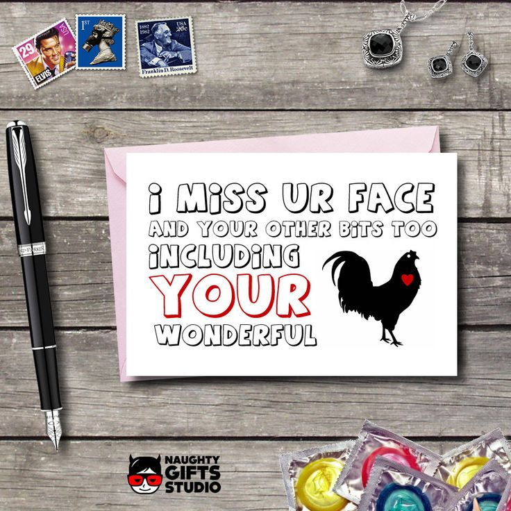 Miss your face Miss you card  Long Distance Relationship Wish you were here Boyfriend Husband Miss your sexy bits (4.95 USD) by NaughtyGiftsStudio