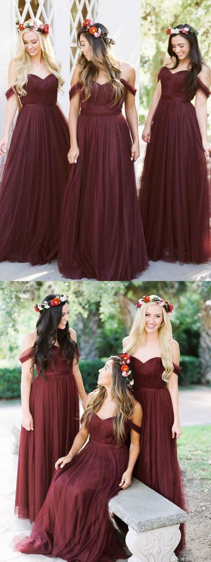 burgundy bridesmaid dresses,cheap bridesmaid dresses,off the shoulder bridesmaid dresses,bridesmaid dresses long,bridesmaid dresses 2018,bridesmaid dresses with sleeves,plus size bridesmaid dresses #bridesmaiddresses #bridesmaid #burgundy #tulleskirt