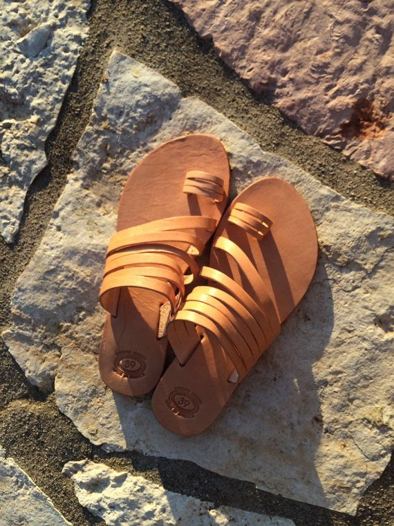 Strappy sandals toering real leather sandals by PennyHandmade