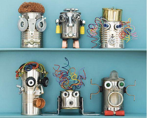 kokokoKIDS: Tin Cans Crafts Ideas.  Множество идей по использованию консервных банок