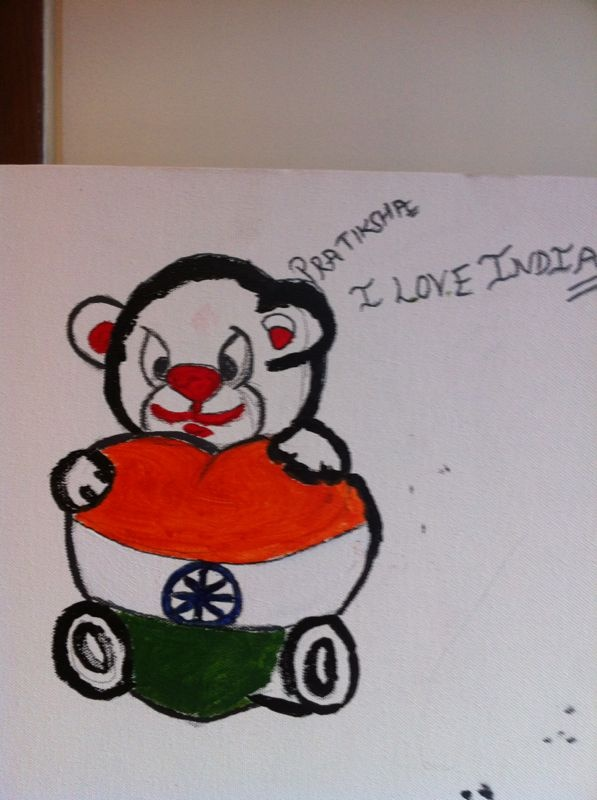 Teddy loves #India #IndependenceDayFeviArtWay