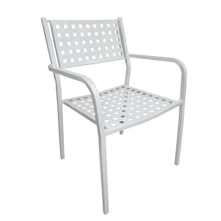 Caprice garden armchair steel white