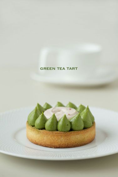 Green tea tart. Find the perfect matcha to use at Adagio Teas: http://goo.gl/92xiA0