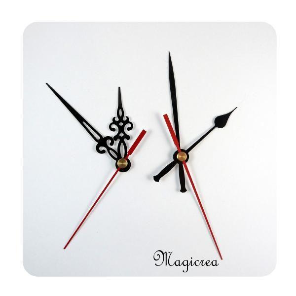 LOT AIGUILLES HORLOGE MODERNE et BAROQUE - Boutique www.magicreation.fr