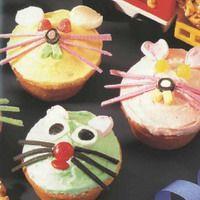 Kids-n-fun | Recept Kat en muis cakejes