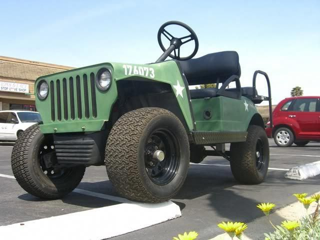 Custom Fast 23mph Golf Cart 48v Willys Army Jeep Body Lsv Carts