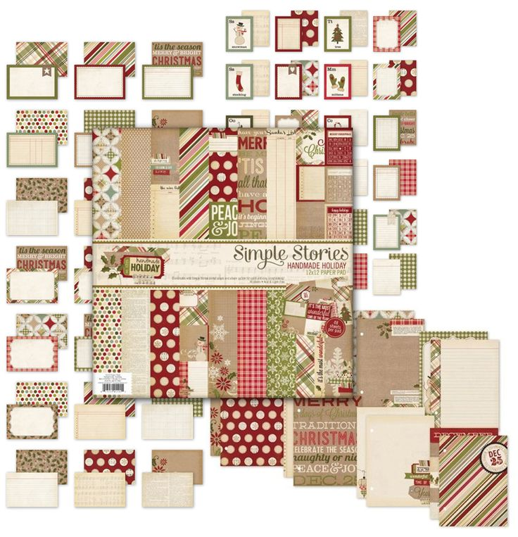 Simple Stories - Handmade Holiday Collection - Christmas Bundle at Scrapbook.com