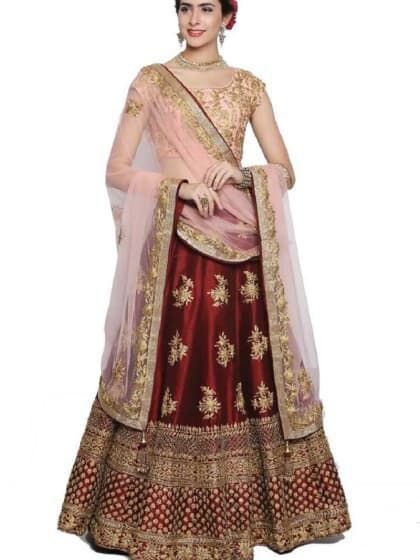 11c930ffca Vogue Beautiful cotton semi Stitched lehenga choli for women girls at home  office work. You can get both long and short lehenga choli with floral  pattern ...