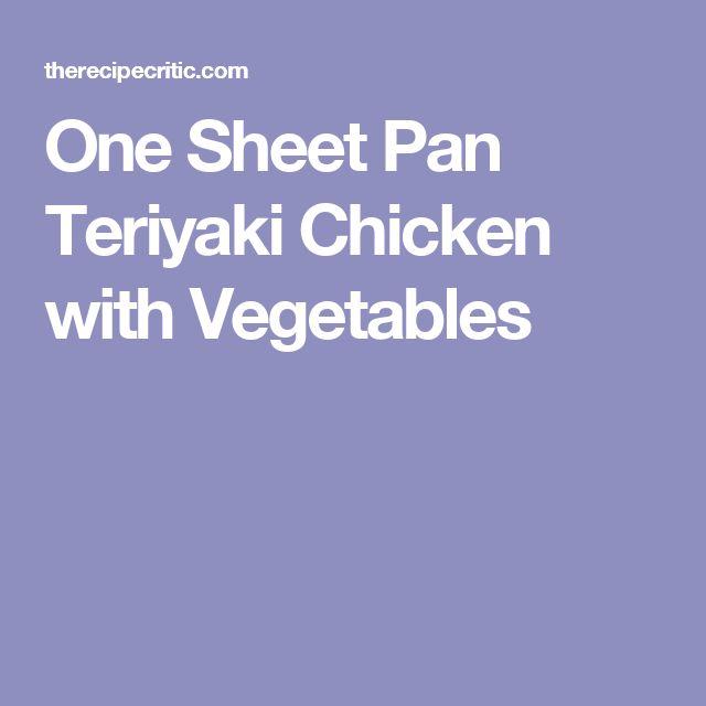 One Sheet Pan Teriyaki Chicken with Vegetables