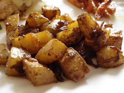 onion-roasted potatoes using Lipton Onion Soup Mix!