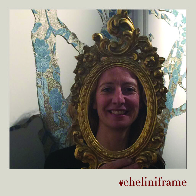 Teresa Cinque, the author of ‪#‎VelvetParty‬ art installation, for ‪#‎cheliniframe‬