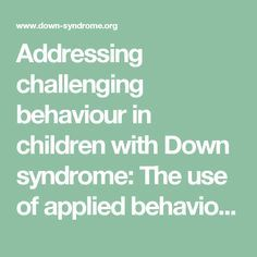 assignment 2 child 1 challenging behaviour Escalating challenging behavior however, in each case, children were  building positive relationships with young children is an essential task and.