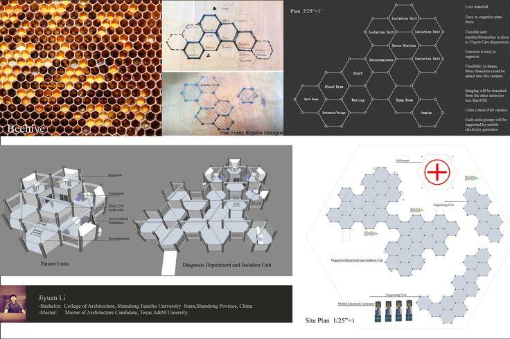 Gli studenti del Texas A&M Master of Architecture hanno sviluppato una serie di concept di cliniche per il trattamento del virus dell'Ebola, pensate come moduli trasportabili.