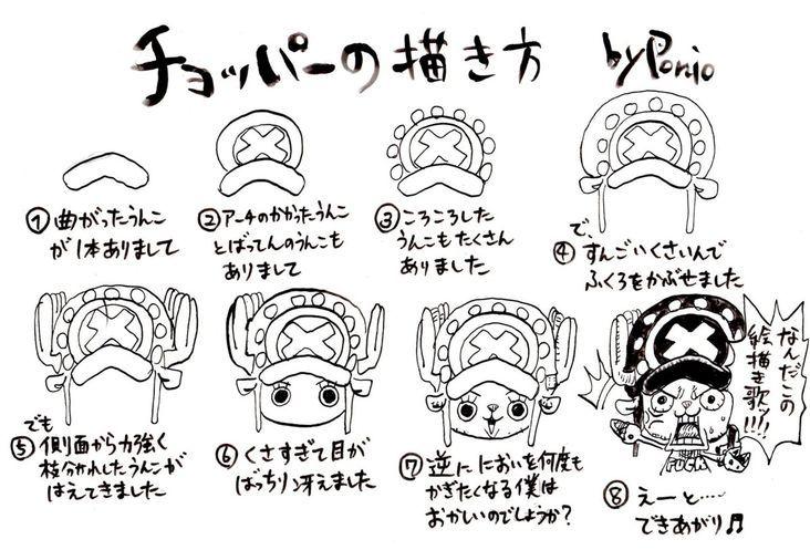 One Piece Apprendre à Dessiner Tony Tony Chopper Avec